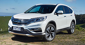 Honda  Image building: Honda Australia director Stephen Collins said the next-generation CR-V SUV will be more dynamic than the current model (left).