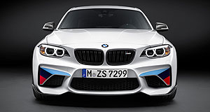 BMW 2016 2 Series M2Looking at you: Get used to this in your rearview mirror. The M2 now has options to make it even feistier on the track and road.
