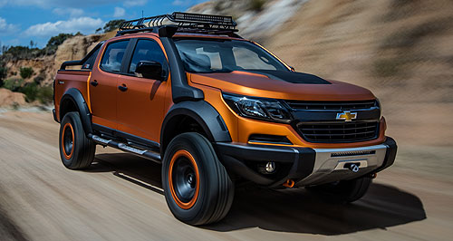 Holden 2017 Colorado Agent orange: Chevrolet's Colorado Xtreme might be a show car, but some of the changes will turn up on Holden's facelifted Colorado Series II range late this year.