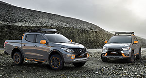 Mitsubishi 2016 ASX Geolook conceptGeo-peek: The Geoseek concepts aim to give a tough, outdoor look to the Triton and ASX.