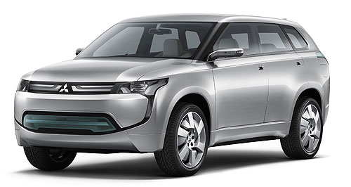 Mitsubishi 2013 PX-MiEV Green SUV: Mitsubishi will offer a plug-in hybrid version of its next-generation Outlander in 2013 – as previewed by the PX-MiEV concept unveiled at the Melbourne motor show last week.