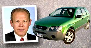 Ford  Market share: Ford Australia's Bruce McDonald and the Territory.
