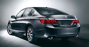 Honda 2013 Accord Evolutionary: The new Honda Accord is shorter than the current model to make it look sportier, but it is largely faithful to the traditional Accord design.