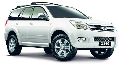 Great Wall 2009 X240 Wall to Wall: The Great Wall X240 will become the first Chinese SUV to be sold in Australia.
