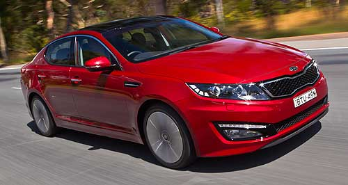 Kia Optima Double up: Kia's Optima Platinum is set to be joined by a cheaper sibling, the Optima Si.