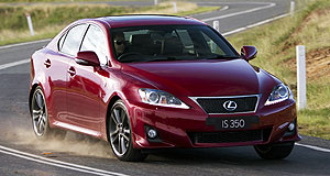 Lexus  Helping hand: The addition of the IS350 to the Lexus range late last year has helped the brand achieve sales growth this year despite stock issues post-tsunami.