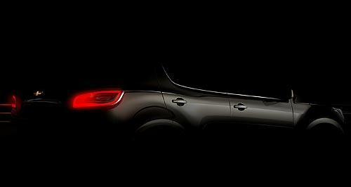 Holden 2012 TrailBlazer Teaser: General Motors has released a single, carefully lit image of the new TrailBlazer SUV ahead of its official unveiling at the Dubai motor show next month.