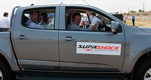General News  Who knew: Australia has an auto industry future with manufacturers such as South Australia's Supashock who enlisted V8 Supercar legend Mark Skaife to publicise its new range of offroad dampers last year.