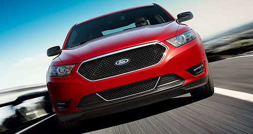 Ford 2012 Taurus Superhero: Ford claims the Taurus SHO grille is akin to Superman's shield.
