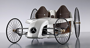 Mercedes-Benz  Original design: Mercedes F-Cell Roadster takes design cues from old and new cars.