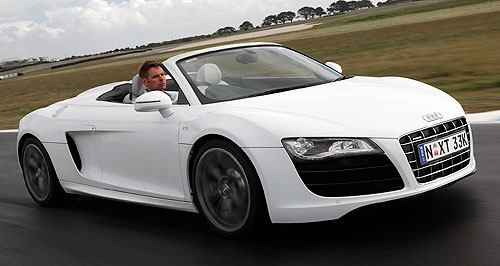 Audi R8 Spyder 5.2 V10 FSI quattroAural pleasure: With the top down, the Lamborghini-derived, 5.2-litre V10 can be heard in all its glory.