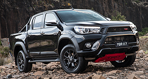 Toyota HiLux TRDDark horse: The Toyota HiLux TRD is only offered with black or white body paint.