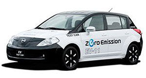 Nissan 2012 Leaf We have ignition: Nissan's new electric vehicle can provide driver information on charging stations within driving range.