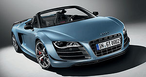Audi 2011 R8 GT SpyderVenomous: Production of Audi's scintillating R8 GT Spyder will be limited to just 333 - five of which are headed here.