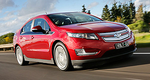 Holden Volt Hyper extended: The Holden Volt can travel more than 600km on a full battery charge and tank of petrol.