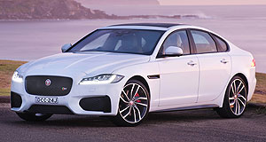 Jaguar XF Open fire: Jaguar's second-generation XF is planning to hit the prestige large sedan market harder than ever, but it is not fighting fire with fire.