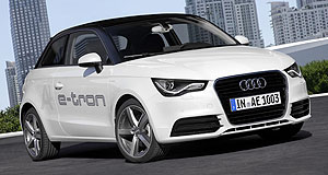 Audi 2013 A1 e-tronTesting: Audi has begun a trial of its A1 e-tron plug-in hybrid across Munich and outlying areas.