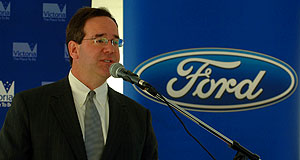 Ford  Excited: Ford Australia president Tom Gorman at the opening.
