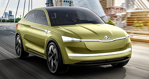 Skoda 2020 Vision E conceptSister Act: Skoda's Vision E is not a million miles away from the Volkswagen ID Cross, which was also launched at the Shanghai show.