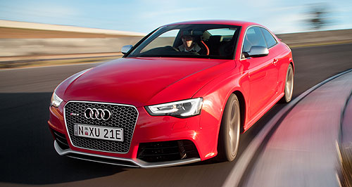 Audi A5 RS5 CoupeSeri-RS performance: The revised Audi RS5 can sprint from zero to 100km/h even faster than before, completing the dash in just 4.5 seconds.