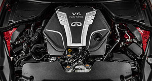 Infiniti  Power Boost: Infiniti's new 3.0-litre V6 engine will be twin-turbocharged, giving the range-topping version a spicy 298kW of power.