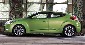 Hyundai Veloster On the market: The Hyundai Veloster coupe - which features a unique side door layout - will hit local roads from $23,990.