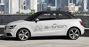Audi 2015 A1 e-tronUp in the air: The Audi A1 e-tron remains unconfirmed for production, despite having debuted in concept form almost two years ago.