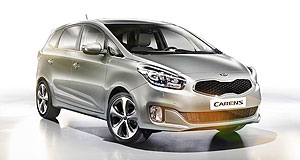 Kia 2013 Rondo That's better: Kia's third-generation Rondo is likely to get a choice of petrol and diesel power when it arrives in Australia in the second quarter of 2013.