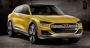 Audi 2017 h-tron quattro concept H pattern: Audi is continuing to explore hydrogen as a source of clean, renewable energy for cars with a sporty h-tron quattro concept.