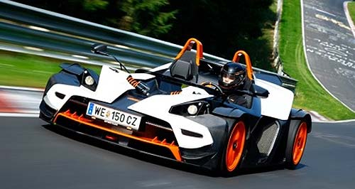 KTM X-Bow KTM debut: New X-Bow races into Australia.