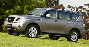 Nissan 2011 Patrol Petrol only: Nissan's new Patrol has a class-leading petrol V8 - but no diesel alternative ... yet.