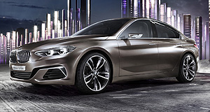 BMW 2017 1 Series SedanChina doll: BMW used China's Guangzhou show to tease its baby sedan that could end up in Australian showrooms.