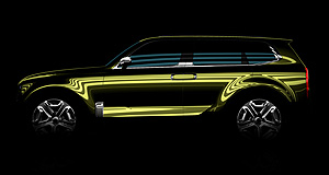 Kia 2017 Mojave Greenie: Kia's mystery large SUV concept was designed in California and thought to be aimed at North America.