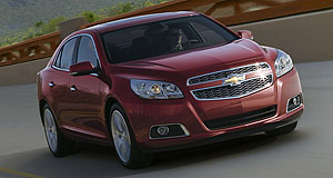General News Sales In the hunt: The 2013 Chevrolet Malibu will be sold in Australia as Holden's Camry fighter from next year.