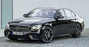 Mercedes-AMG 2018 E63 E street: Mercedes-AMG chairman has revealed more about the upcoming E63, which will offer more power and performance than the E43 (left) revealed earlier this month.