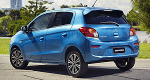 Mitsubishi Mirage Baby battle: Mitsubishi's compact car offering has undergone a light refresh just two weeks after its arch rival Holden Spark rolled out in all-new form.