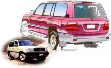 Nov 1992-Feb 1998 Toyota LandCruiser 100 Series GXL 5-dr wagon Rear shot