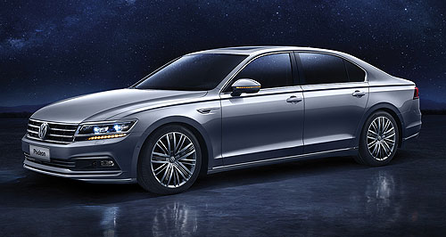 Volkswagen 2016 Phideon Electric dreams: VW Group CEO Matthias Mueller touched on the company's plans to roll out more electrified and autonomous models in coming years.