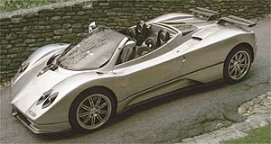 Pagani Zonda Roadster Expensive thrills: It will cost you around $1.4 million to get hold of a Pagani Zonda Roadster.