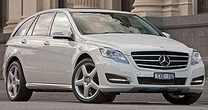 Mercedes-Benz R-class Long shot: Mercedes hopes the long-wheelbase R350 CDI will improve sales of its luxury people carrier.