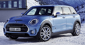 Mini 2016 Clubman ALL4Four fun: Mini's Clubman All4 has the latest generation of the company's new all-wheel-drive system, but it is not slated for Australian release.