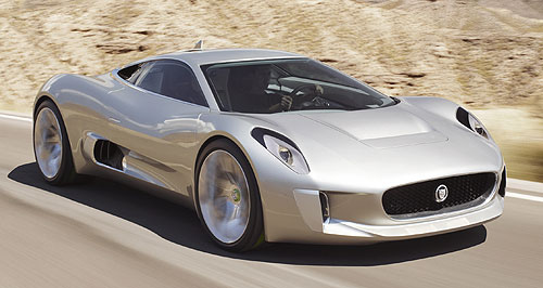 Jaguar 2015 C-X75 Vicious cat: The petrol-electric powertrain in the Jaguar C-X75 points the way forward to the technology we might see in green volume Jags of the near future.