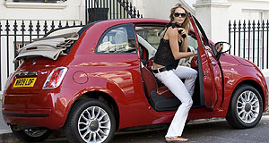 Fiat 2010 500 C convertibleElle of a car: Elle Macpherson likes to go topless with the Fiat 500C.