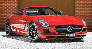 Mercedes-Benz SLS AMG RoadsterFrom the top down: The Mercedes SLS AMG Roadster can dash to 100km/h in 3.8 seconds.