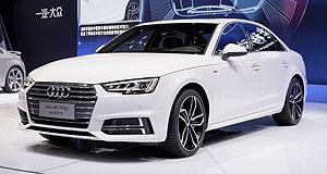 Motor Show  Room to spare: A number of long-wheelbase models were shown off at Auto China 2016, including the Audi A4 L.