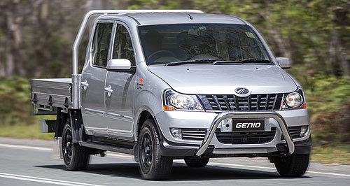 Mahindra Genio In-Genio: The Mahindra Genio will be offered in single and dual-cab body style, in either two- or four-wheel drive guise.