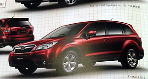 Subaru 2013 Forester Snapshot: Leaked brochure images of the new Forester emerged last month, with a new version of Subaru's EyeSight system included among the details.