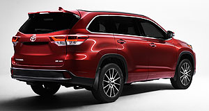 Toyota 2017 Kluger Oz bound: Toyota's American-built Kluger SUV will get welcome powertrain and – potentially – safety upgrades when it arrives in Australia about a year from now.