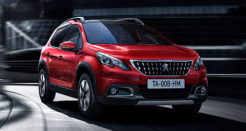 Peugeot 2016 2008 Fresh face: The Peugeot 2008 gets some design tweaks to give it a more aggressive look compared with the original that lobbed in late 2013.