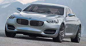 BMW 2010 CS concept Low-slung: CS is even lower than CLS.